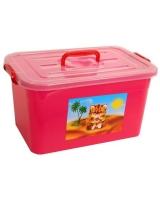 Ящик для игрушек Полимербыт Радуга, цвет: в ассортименте