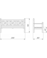 Скамейка трехместная для дач и частных домовладений