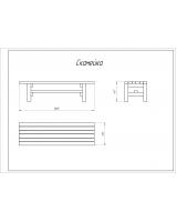 Деревянная скамейка для дач и частных домовладений
