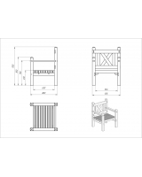 Кресло садовое для дач и частных домовладений