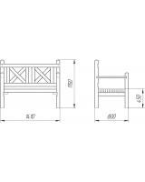 Скамейка двухместная для дач и частных домовладений