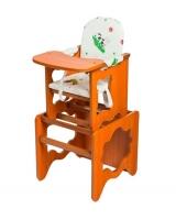 Стул-стол Премьер, цвет: белый/рисунок бычок/светлый орех