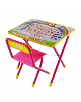 Набор детской мебели Дэми Алфавит, цвет: розовый