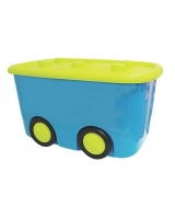 Ящик для игрушек М-Пластика Моби, цвет: бирюзовый