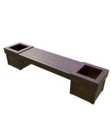 Скамейка с вазонами для дач и частных домовладений